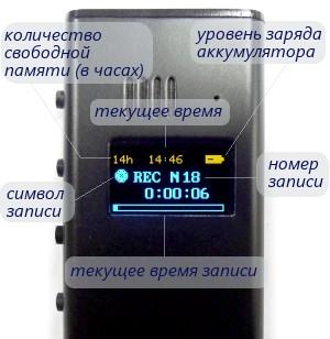 Цифровой мини-диктофон Edic mini Ray A36