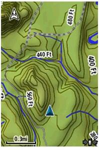 Карты Garmin Astro 320 в работе