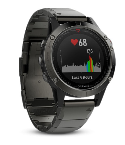 Спортивные часы Garmin Fenix 5 Sapphire Slate Gray with Metal Band с GPS/ГЛОНАСС