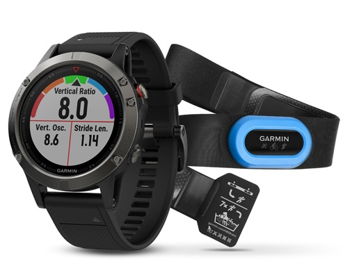 Спортивные часы Garmin Fenix 5 Slate Gray Performer Bundle с GPS/ГЛОНАСС