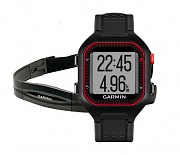 Спортивные часы Garmin Forerunner 25 Large Black/Red HRM1